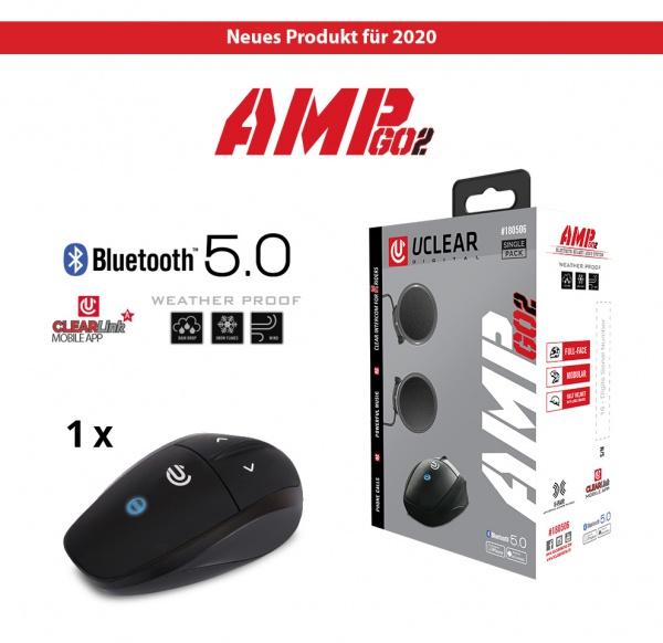 AMP Go 2 Bluetooth 5.0 Intercom Headset - Single Kit