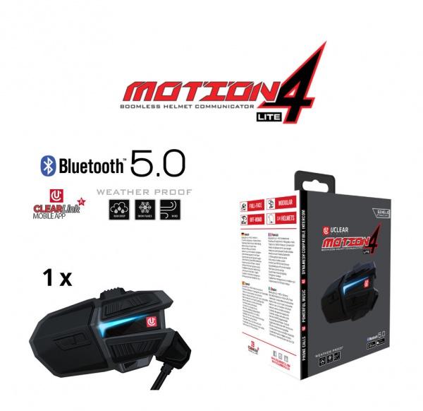 Motion 4 Lite Bluetooth 5.0 & MESH Intercom Headset – Single Kit