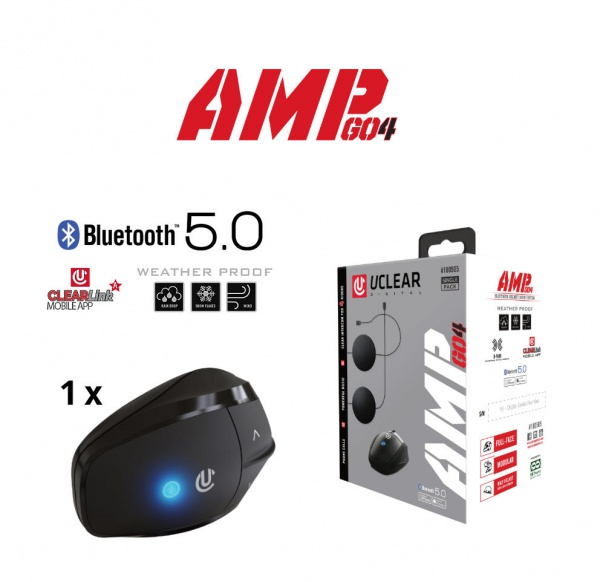 AMP Go 4 Bluetooth 5.0 Intercom Headset - Single Kit
