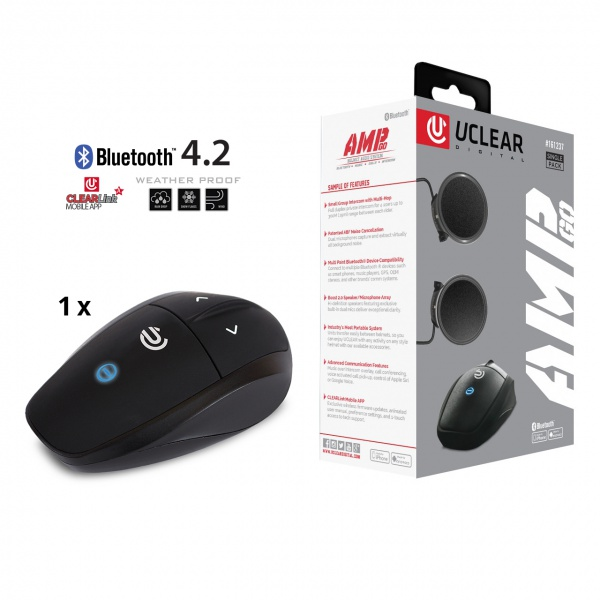 AMP Go Bluetooth 4.2 Intercom Headset - Single Kit