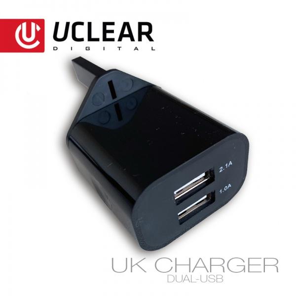 UK Dual Port Netzteil AC / USB Ladeadapter