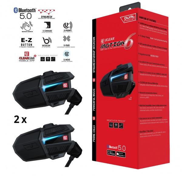Motion 6 Système audio Bluetooth pour casques de moto - Dual Kit