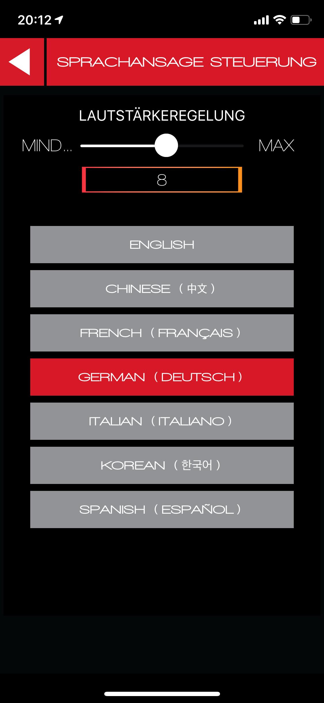 CLEARLink-Sprachansage-Deutsch